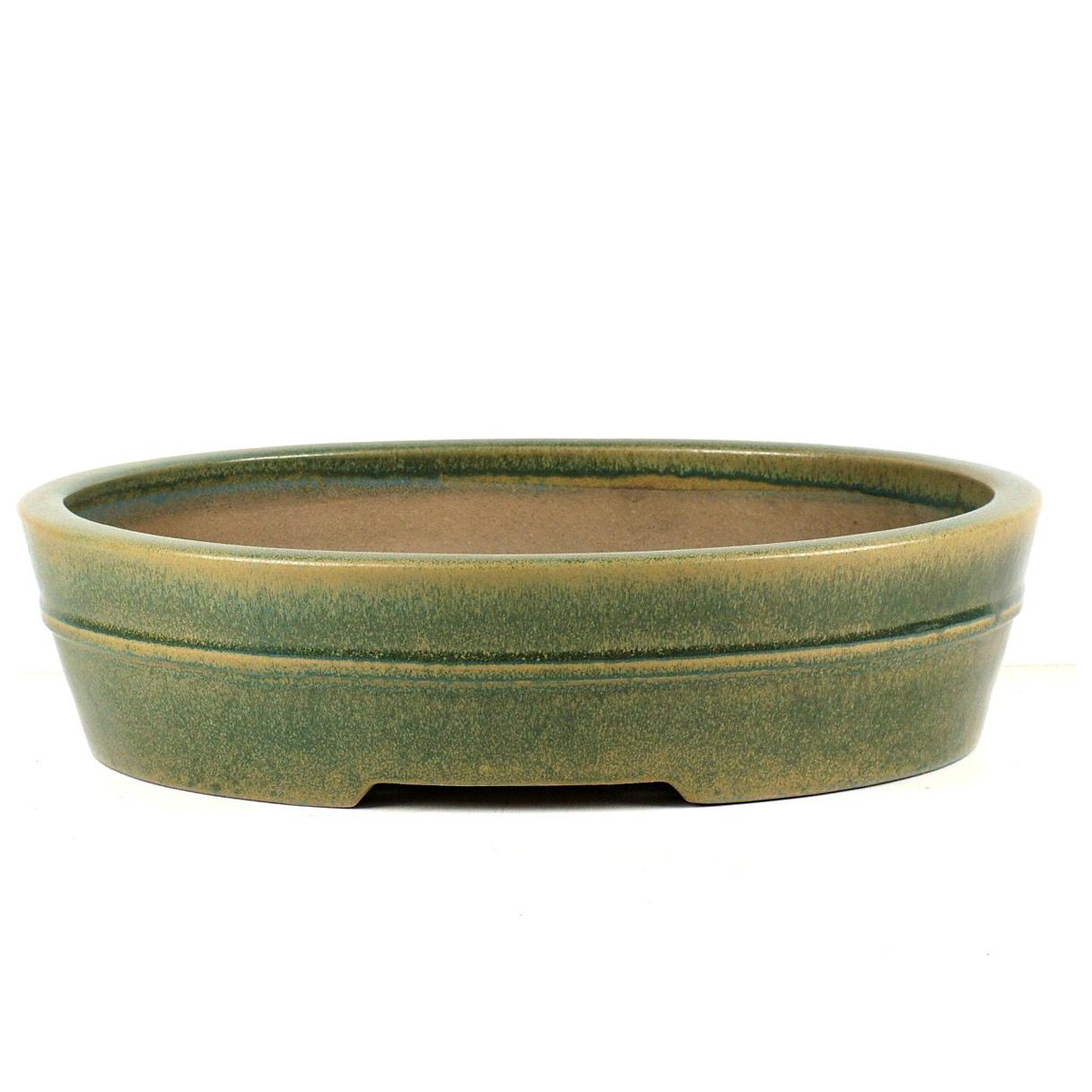 Bonsaischalen handgemacht oval glasiert